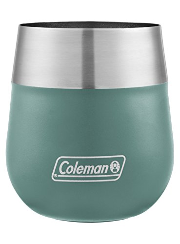 Coleman Claret Insulated Stainless Steel Wine Glass, Seafoam, 13 oz.