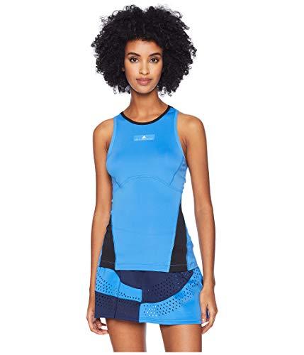 adidas Women's Stella McCartney Barricade Tank Top Ray Blue/Black Medium ()