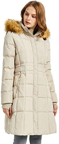 Orolay Women's Puffer Down Coat Winter Jacket with Faux Fur Trim Hood