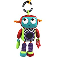 SODIAL Baby Plush Mobile Musical Rattle Toys Android Robot Baby Hanging Toys for Newborn 0-12 Month Early Educational Toys Doll