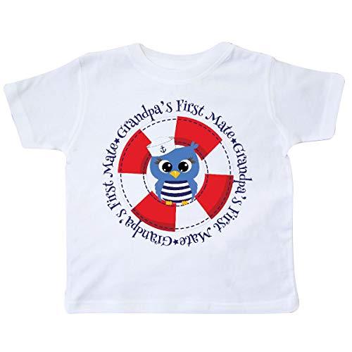 inktastic - Grandpa's First Mate Grandson Toddler T-Shirt 2T White 233d9 -