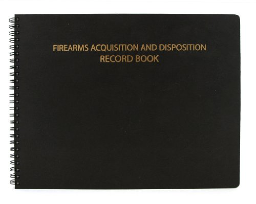 BookFactory Gun Log Book/Firearms Acquisition & Disposition Record Book - 100 Pages, Black-TransLux Cover - Wire-O, 11
