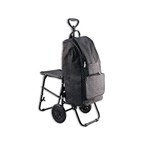 Shopping Cart/trolley with Folding Seat & BAG Sport Grocery Salesperson