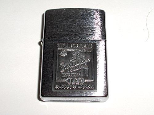 zippo-stolichnaya-stoli-russian-vodak-brushed-chrome-medallion-lighter