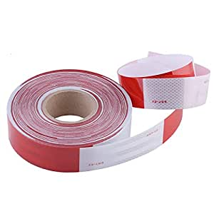 holarose reflective tape red white 2 inch x 164 feet self adhesive warning tape. Black Bedroom Furniture Sets. Home Design Ideas