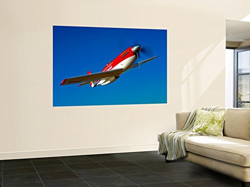 Strega, a Highly Modified P-51D Mustang Used in Unlimited Air Racing Wall Mural by Stocktrek Images 48 x ()