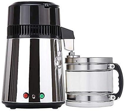 UFLIZOGH Destilador de Agua 4L Interior de Acero Inoxidable 750W ...