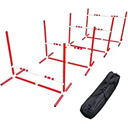 Affordable Agility Red TRAVEL Jump Set