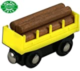 Lil Chugs Wooden Train Log Freight Car
