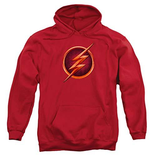 The Flash TV Series Logo Pull-Over Hoodie Sweatshirt & Stickers (Medium)