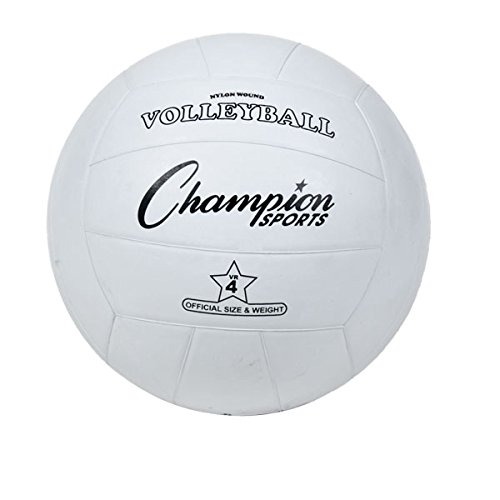 Champion Sports pelota de voleibol de goma oficial, White - Single Ball, 8.25' (21 cm)