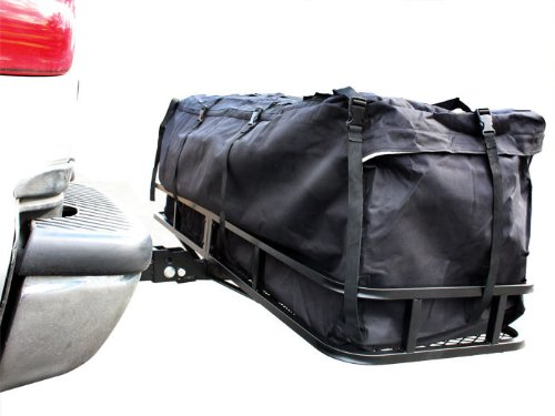 TMS 60inch x 20inch Hitch Mount Folding Cargo Carrier Basket w/ Weather-Resistant Luggage Bag by TMS (Image #6)