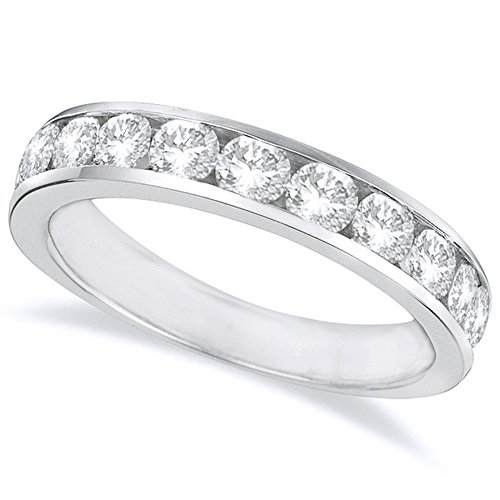 Ultra Diamonds Anniversary Ring - 2 Carat (ctw) 14K White Gold Round Diamond Ladies Channel Set Half-Way Semi-Eternity Wedding Anniversary Stackable Ring Band Ultra Premium Collection