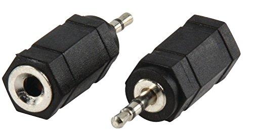 Valueline ac-018 stereo audio adapter Jack 3,5 mm vrouwelijk naar jack 2,5 mm stekker (zwart)