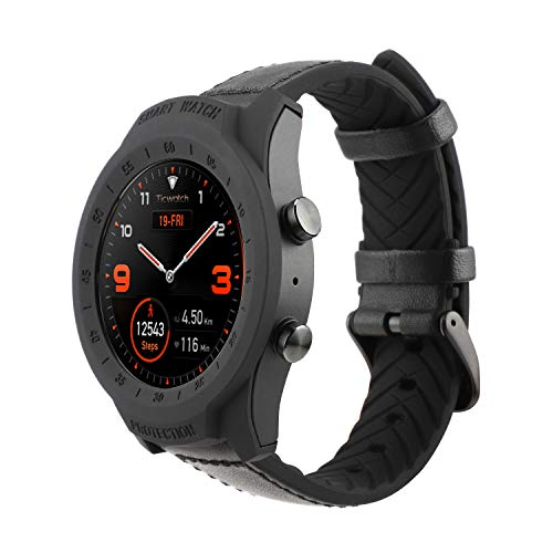 TicWatch Pro Case, BASENOR Tough Armor Rugged Protective Case Designed for TicWatch Pro Smart Watch