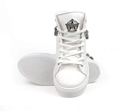 Blanco Zapatillas De Para Mujer Cuero Star Guess cBCnvWq1x