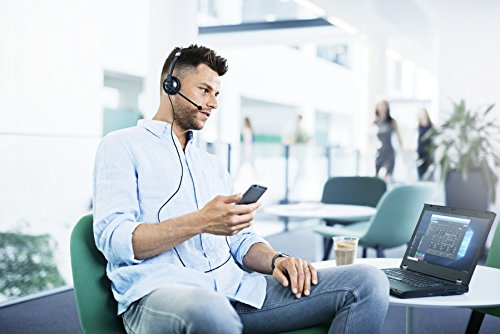 Sennheiser SC 45 USB MS (507083) - Single-Sided Business Headset | For Skype for Business, Mobile Phone, Tablet, Softphone, and PC | HD Sound & Noise-Cancelling Microphone (Black) by Sennheiser Enterprise Solution (Image #6)
