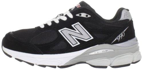 New Balance W990 Estrechos Ante Zapato para Correr, Black with Grey & White, 37 EU