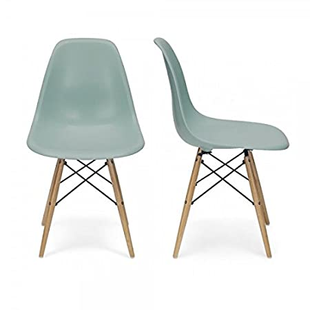 charles eames chairs dsw replica set of two silver blue amazon