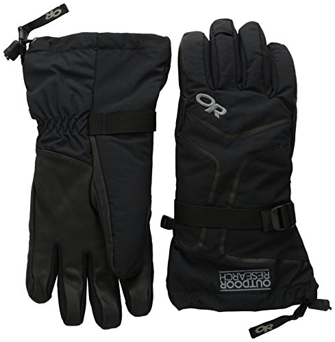 (Outdoor Research Men's Highcamp Gloves, Black, X-Large)