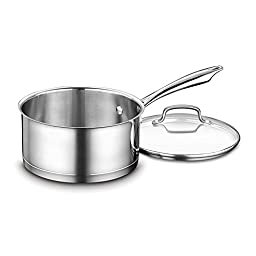 Cuisinart MCP193-18CH MultiClad Pro Stainless Steel 3 Qt Saucepan w/ Glass Cover