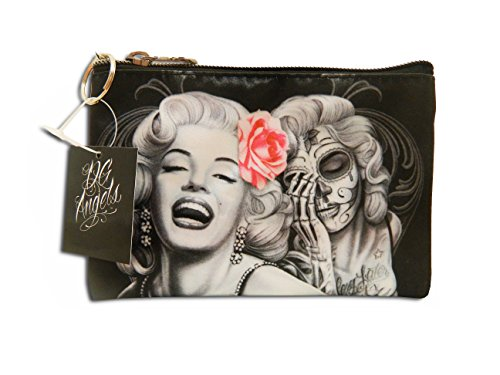 Midsouth Products David Gonzales Art Make up Bag Marilyn Monroe Smile Now Cry -
