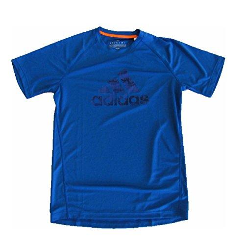 Adidas Performance Climalite Logo Tshirt (Medium, Blue)