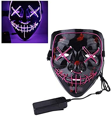 Mallalah Máscara de Halloween LED Light Up Purge Mask Máscara para ...
