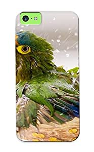 Design For Iphone 5c Premium Tpu Case Cover Baby Parrot Bathing Protective Case