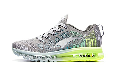 Shock Shoes Absorption Running (Onemix Women's Lightweight Air Cushion Outdoor Sport running Shoe, Grey, Women 8(M)US/Men 6.5(M)US 39EU)