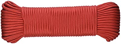 SecureLine NPC5503210R 5/32-Inch X 100-Feet Military Grade 550 Nylon Paracord, Red