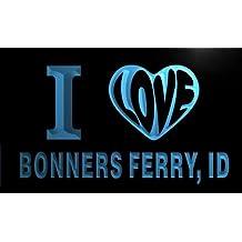 v52996-b I Love BONNERS FERRY, ID IDAHO City Limit Neon Light Sign