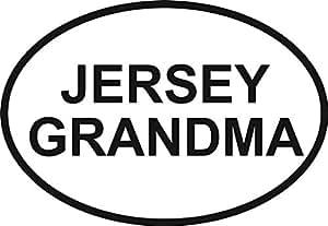 Amazon Com Jersey Grandma Euro Oval Bumper Sticker