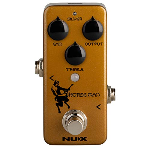 NUX Horseman Overdrive Guitar Effect Pedal with Gold and Silver
