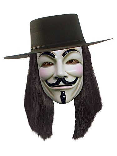 V for Vendetta Wig, Black, One Size ()