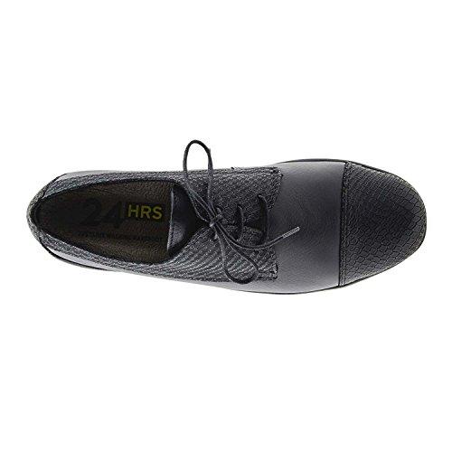 Cuir Et Gravé Noir Lisse 23792 24 Chaussures Heures 1cKJlTF3