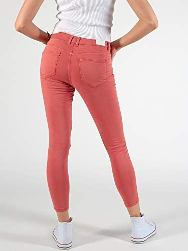 M.O.D by Miracle of Denim Pantalon de ski pour femme Motif ancre Hibiscus Rouge