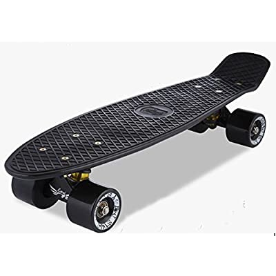 LMAI 22'' Cruiser Skateboard Graphic Mini Complete Skateboard (Black) : Sports & Outdoors