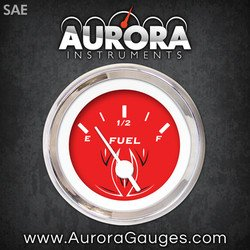 Aurora Instruments Pinstripe Red Fuel Level Gauge GAR123ZEXKABAD