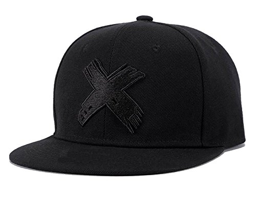 Quanhaigou Anime Snapback Hats for Men Women,Embroidered X ONE Piece Flat Bill Adjustable Baseball Cap Black (Fashion Bill)