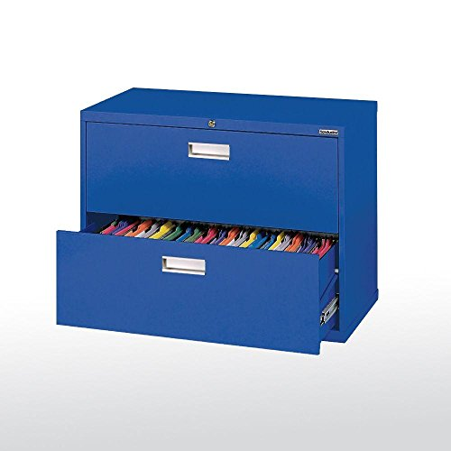 BUDDY PRODUCTS Lateral File Box, Blue -