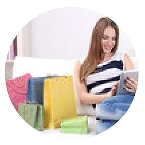 alfombrilla de ratón mujer joven sentada con la tableta - ronda - 20cm