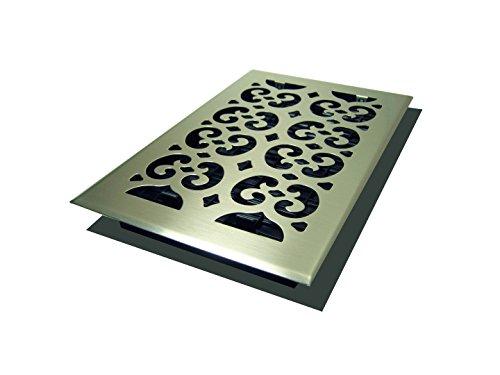Decor Grates SPH610-NKL Scroll Floor Register, 6-Inch by 10-Inch, Nickel