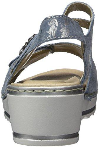 Fog Bleu Remonte Femme Weite Bride R6055 Sandales Cheville Silver G TqqxfFw