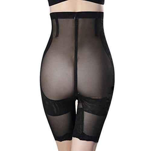 Burvogue mujer talla alta Panty envolvente ajustado formas Modelant vientre plano negro