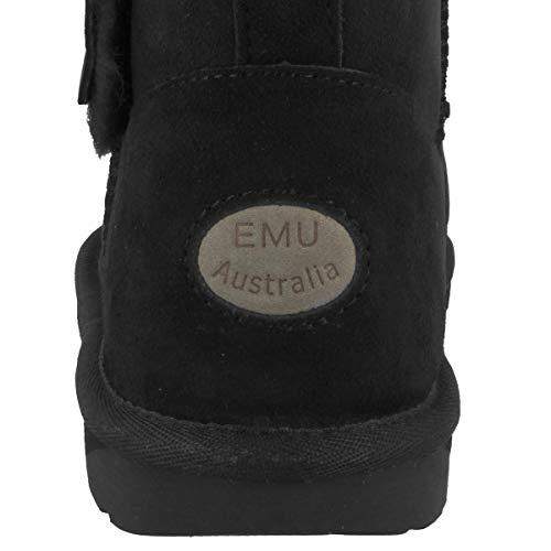 Femme Neige Emu Australia Noir Mini De Bottes Denman Black 0Yrqa0w