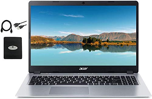 2020 Newest Acer Aspire 5 Slim Laptop 15.6″ FHD IPS Display, AMD Ryzen 3 3200u (up to 3.5GHz), Vega 3 Graphics, 8GB RAM DDR4, 256GB PCIe SSD, Backlit KB,WiFi,HDMI, Win10 w/Ghost Manta Accessories