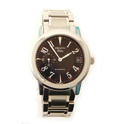 Reloj Zenith Hombre fmb4020452680 automático acero quandrante negro correa acero: Amazon.es: Relojes