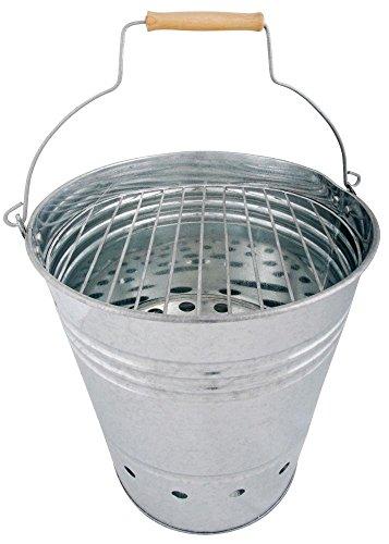 Esschert Design Grill-Kübel, Eimer, Grill mit Griff, 35x31x34 cm