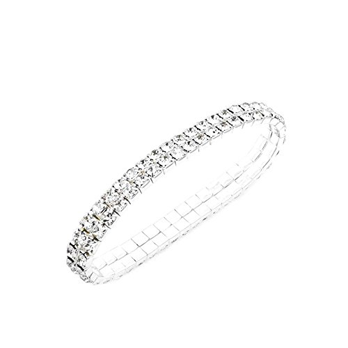 JSEA S2 Rhinestone Bracelet Stretch Womens Elastic Bracelet Bangles Girls Small Wrist